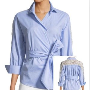 🌺2 for $25! NWT Romeo Juliet Gingham wrap blouse